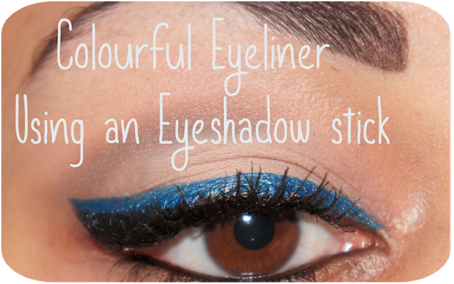 Blue Winged Eyeliner Using MUA Makeup Academy Eyeliner Brush