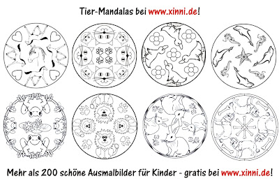 Malvorlagen Zum Ausmalen Ausmalbilder Tiere Tier Mandalas