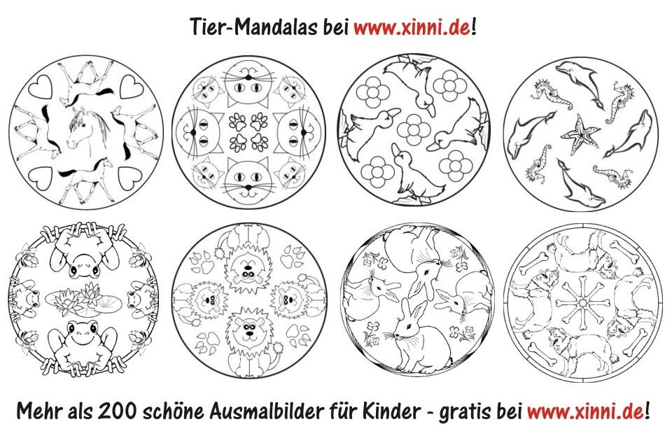 Malvorlagen zum Ausmalen: Ausmalbilder Tiere: Tier-Mandalas