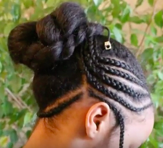 Black Teenage Girls Hairstyle - The Braided Updo for Tweens