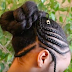 Black Teenage Girls Hairstyle: Braided Updo for Tweens Hairstyle Tutorial