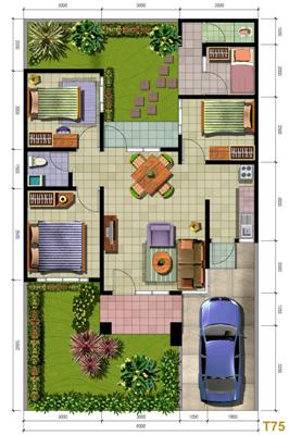 desain interior rumah minimalis type 75 desain interior