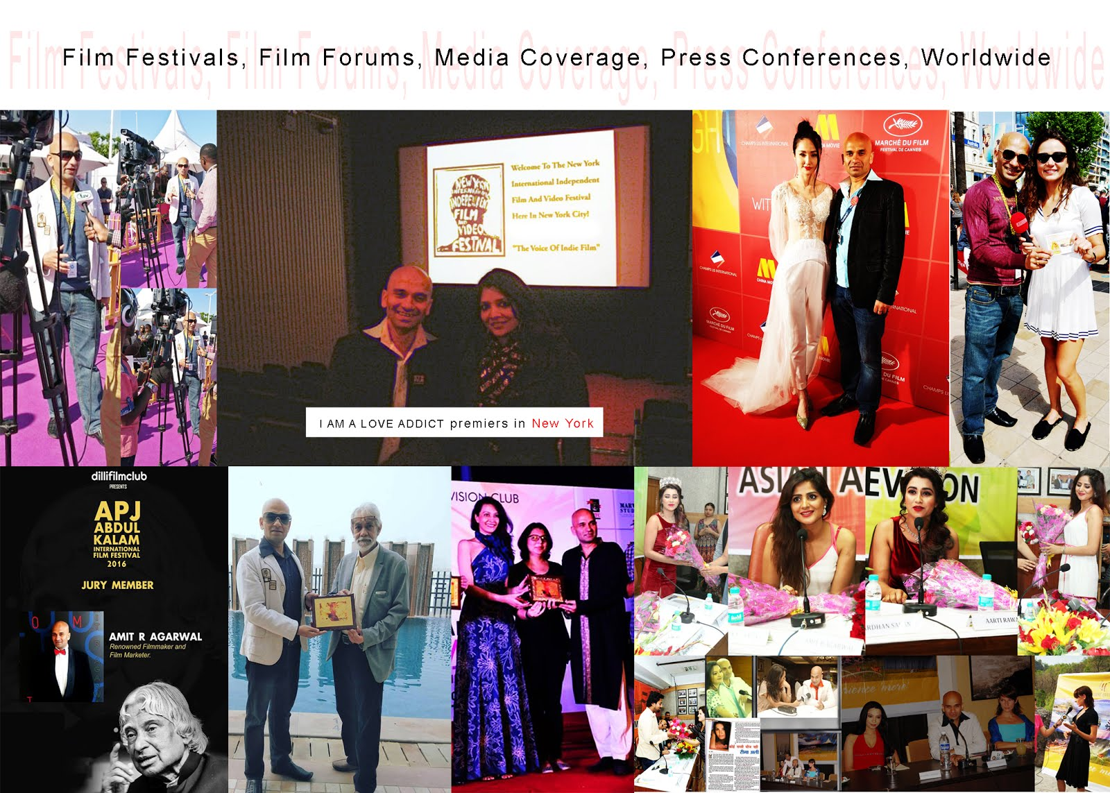 Film Festivals, Film Forums, Media Coverage, Press Conferences, Worldwide