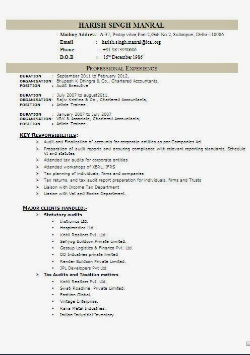 windows resume templates format resume template - Windows Resume Templates