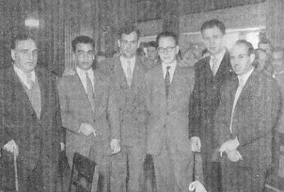 Ajedrecistas participantes en el I Torneo Internacional de Ajedrez Lugo 1957