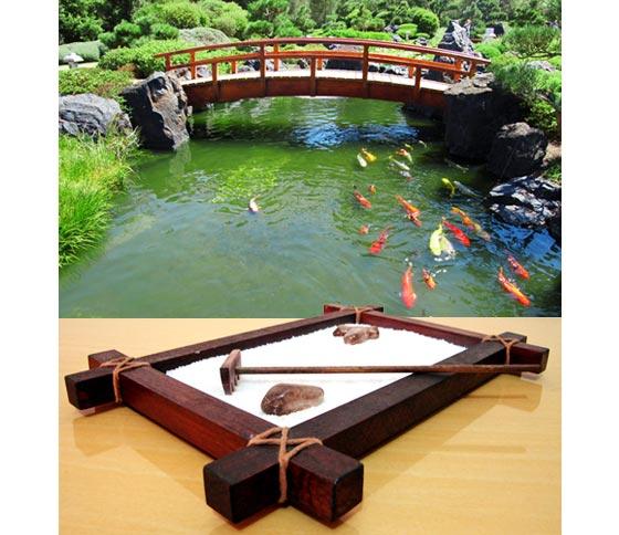 Algumas imagens da net de jardim zen para inspirar