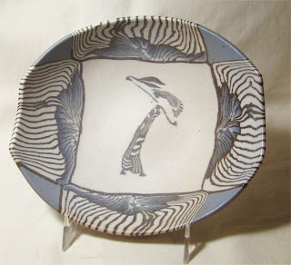 Sliced pottery bowl from Siegele and Haley colored clay