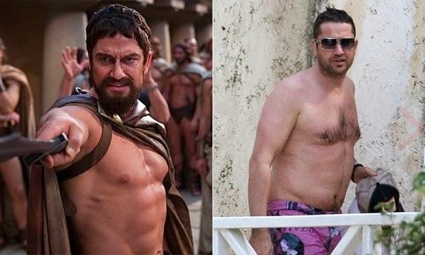 O antes e depois dos famosos que ficaram barrigudos
