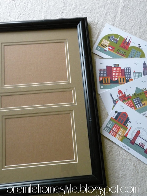 Picture Frame and Postcards