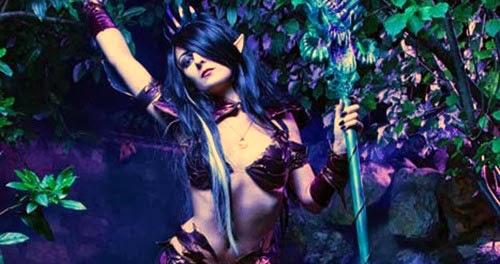 disfraz sexy de elfa oscura para halloween