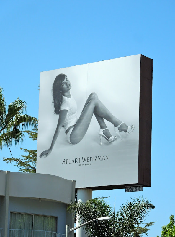 Stuart Weitzman shoes billboard 2012
