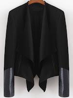 romwe leather jacket