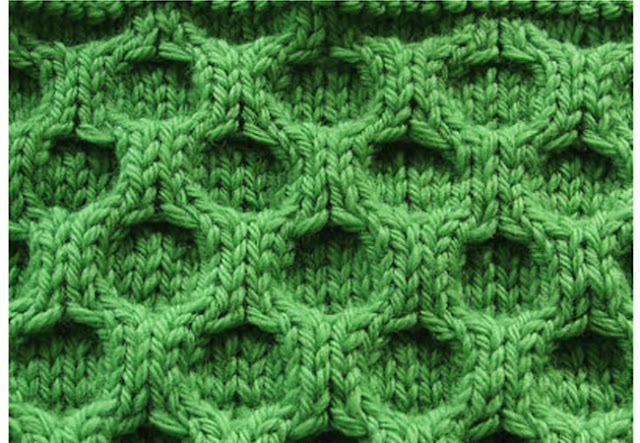 honeycomb stitch, knit stich, sample