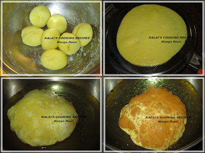 Mango Poori | Mango Puri | மாம்பழப்  பூரி