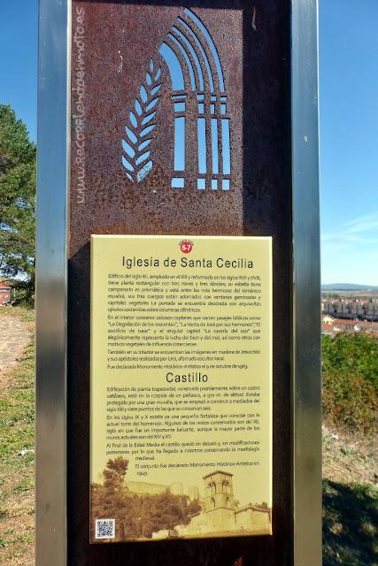 Panel informativo ermita de Sta Cecilia