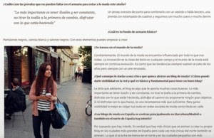 Moda en calle interview