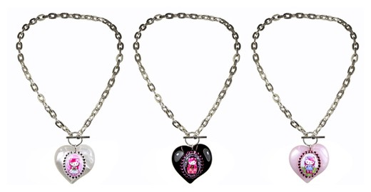 Tarina Tarantino Hello Kitty Heart Necklaces