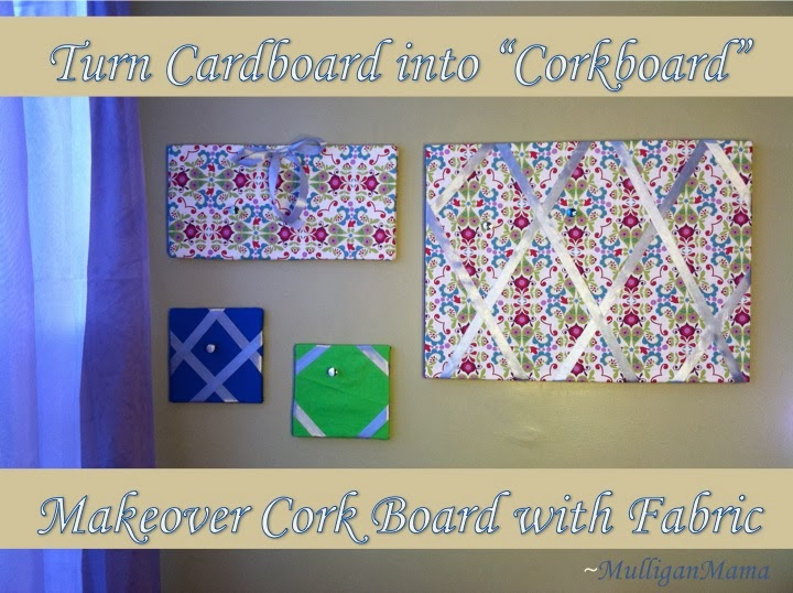 "Turn Cardboard into ""Corkboard"" (and Makeover Old Cork Board)"