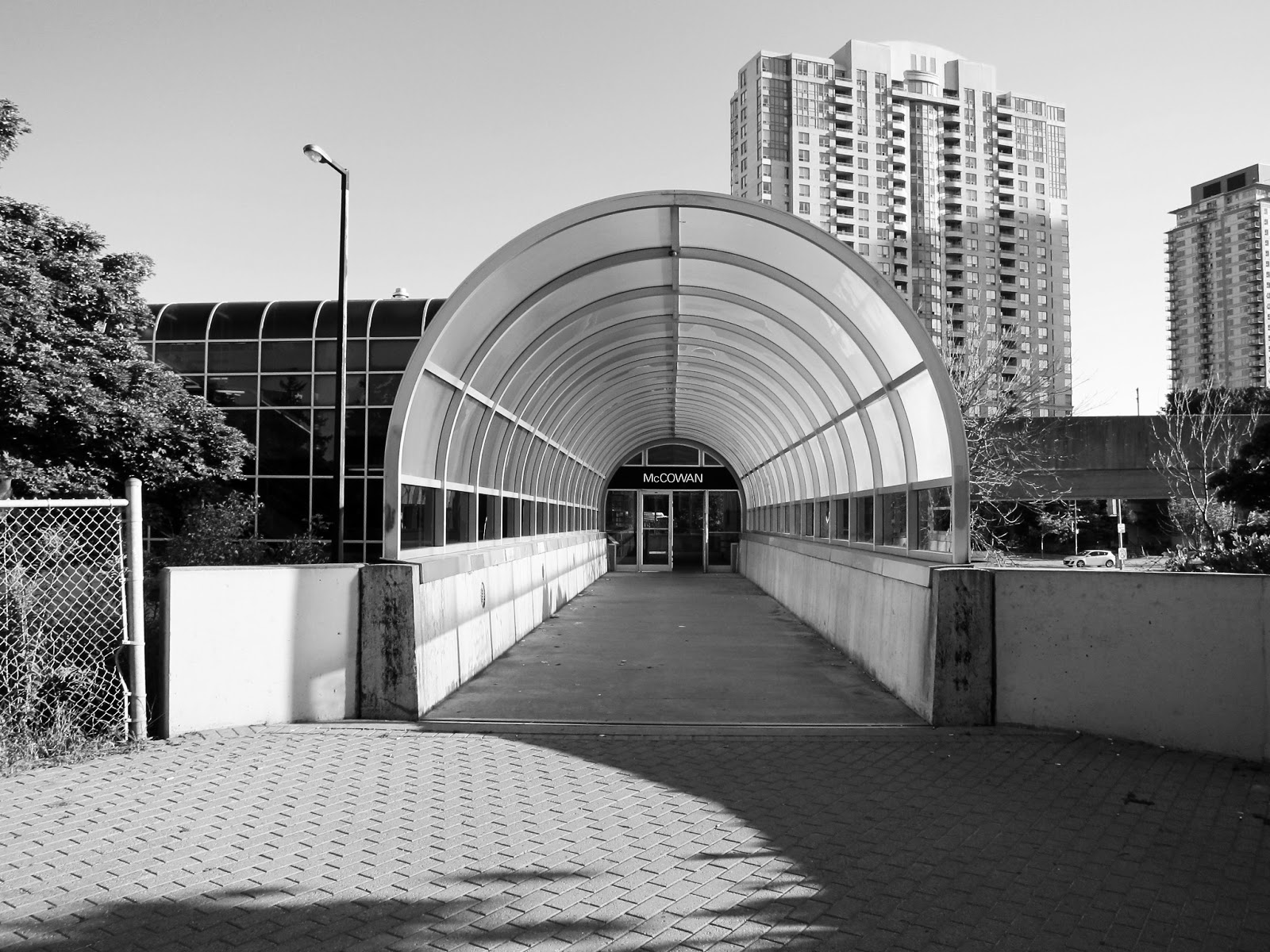McCowan station Pedestrian Way entrance
