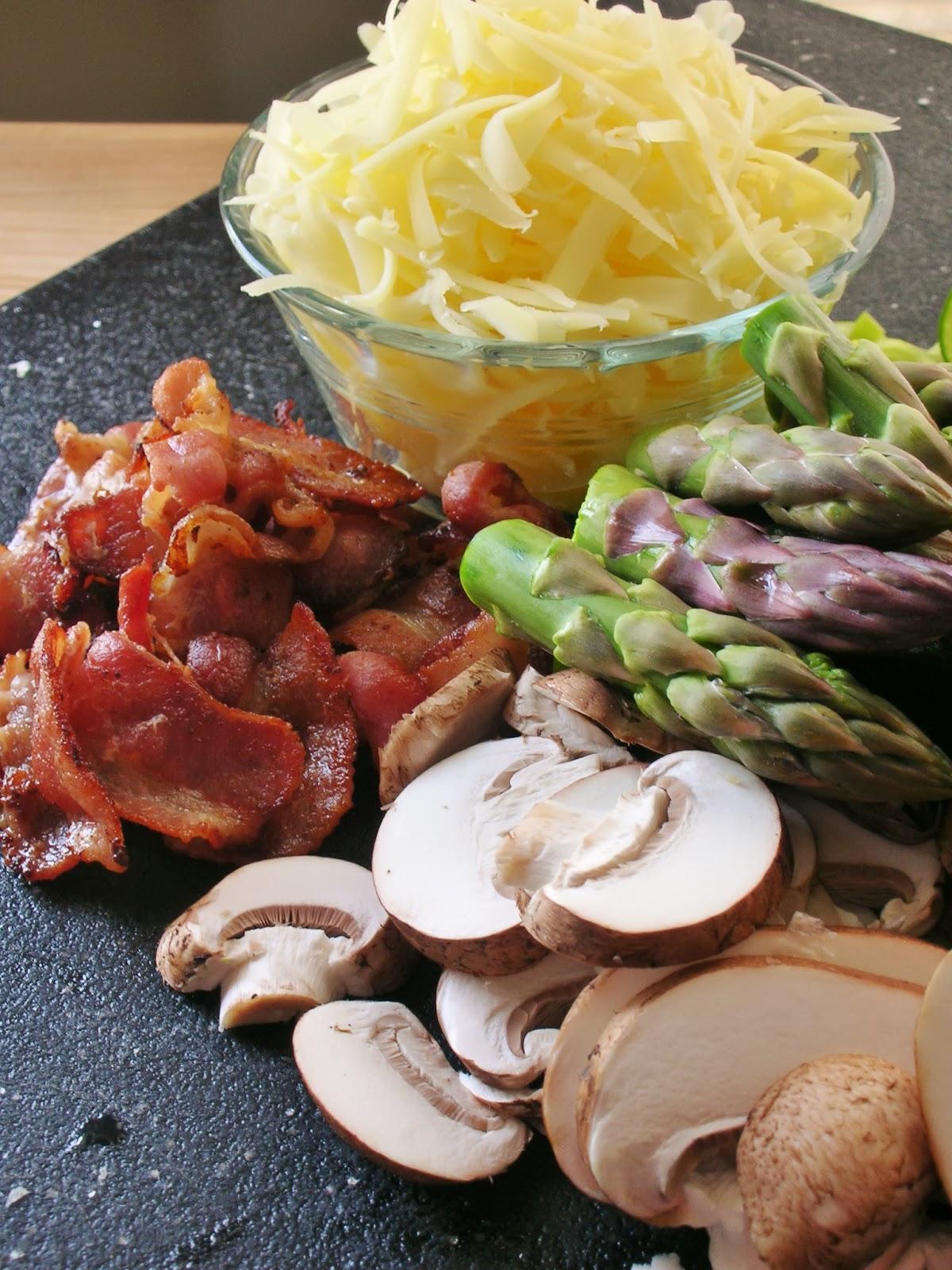 Basil: Asparagus, Mushroom and Bacon Popover