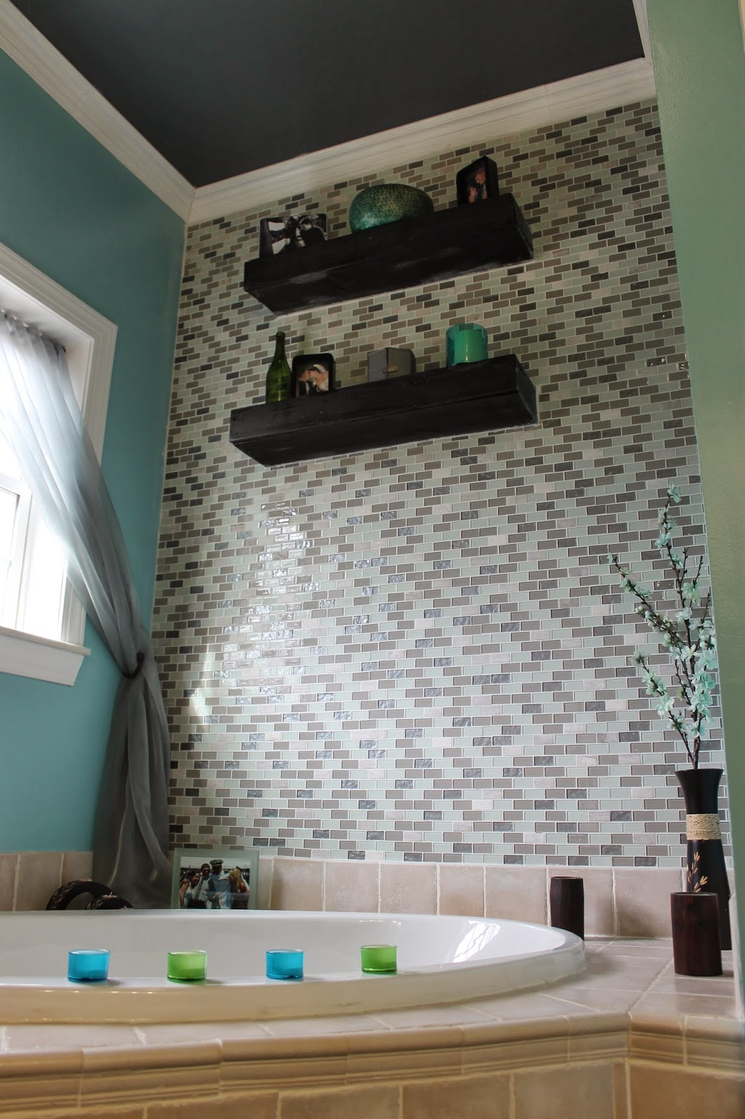 Paint Speckled Pawprints Diy Glass Tile Accent Wall