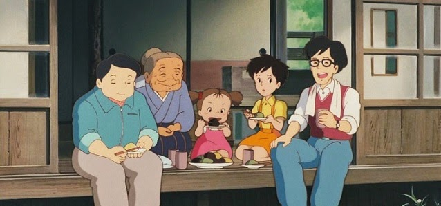 Tonari no Totoro mi vecino totoro mochi eating comiendo miyazaki となりのトトロ