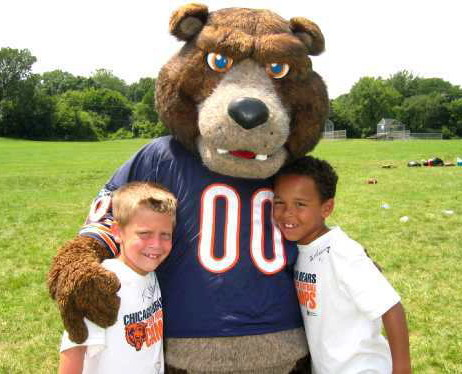 Staley official mascot of the Chicago Bears of the National Football League.