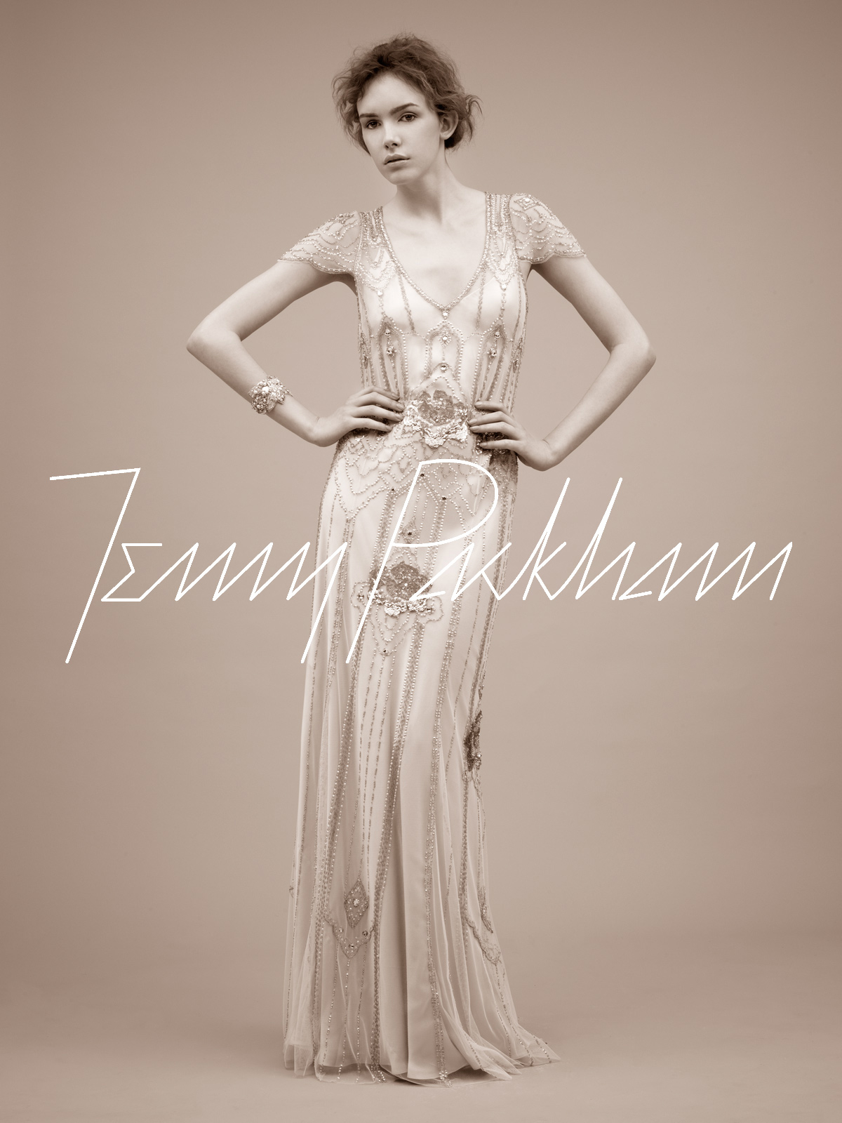 the wandering bride flapper wedding dress
