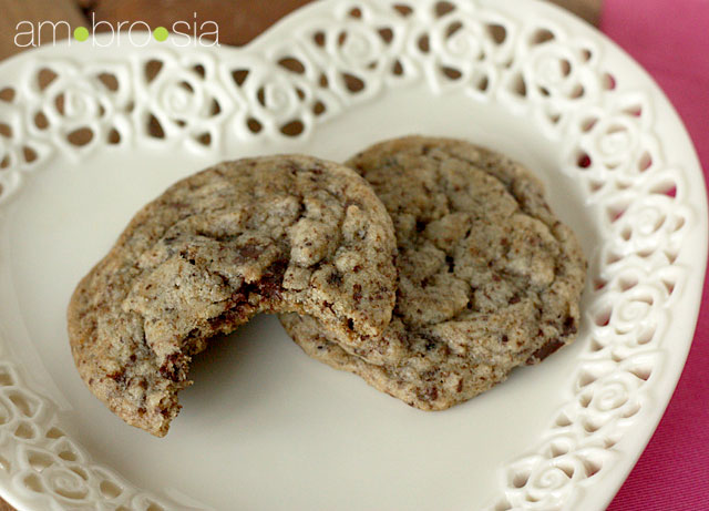 Cappuccino chocolate chunk cookies...such a lovely thought. Enjoy!