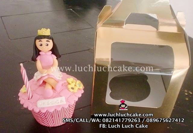 Cupcake Souvenir Ulang Tahun Tema Princess
