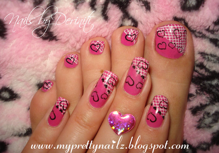 My Pretty Nailz Valentines Day Matching Mani Pedi Nail Art