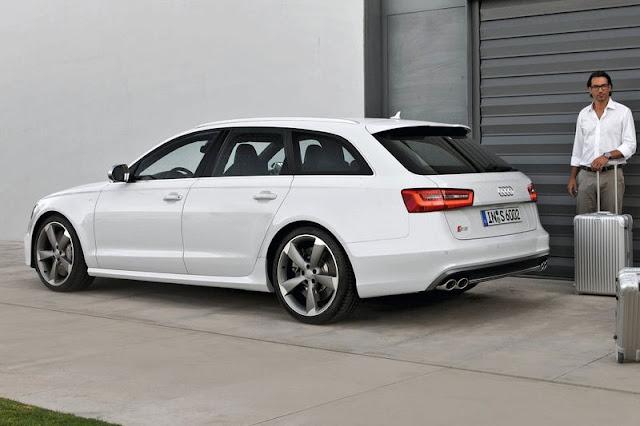 2013 Audi S6 Avant Back Exterior