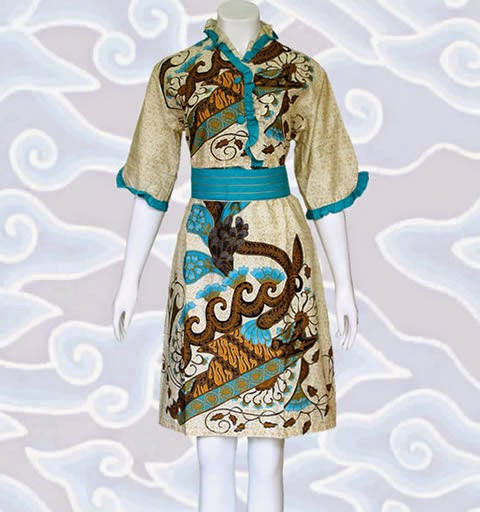 dress terusan batik