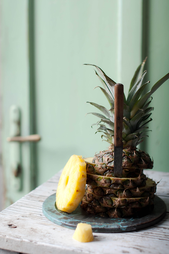 Pina Colada cake – Rum flavoured brownie with pineapple jam and shredded coconut