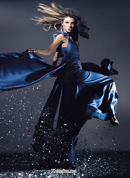 Angela Lindvall Blue Magical Fashion - Fashion Style