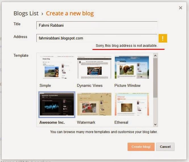 Cara Membuat Blog Blogger/Blogspot Terbaru