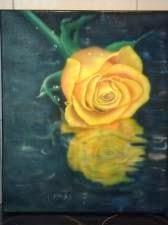 Peinture sur toile reflet et gouttes d'eau  aerographe par bysodisign