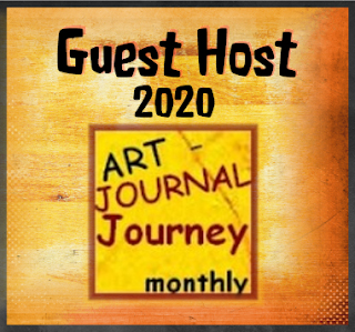 Honoured to be December's Guest Host @ Art Journal Journey