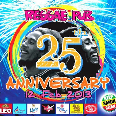 Reggae Pub, 25th Anniversary 12th February 2013