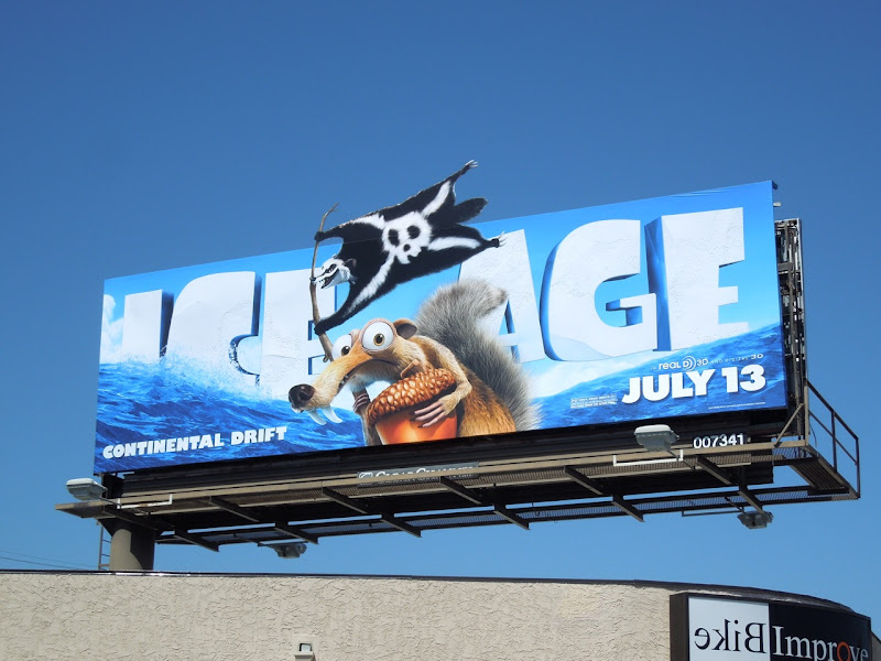 Ice Age Continental Drift Scrat billboard