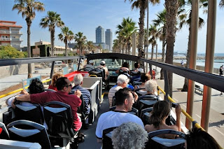 view of-Barcelona-Sightseeing-Bus tour