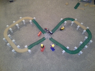 GeoTrax Track Layout: Danger Drop Criss-Cross
