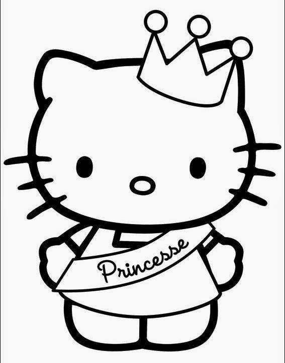 coloriage hello kitty princesse en ligne