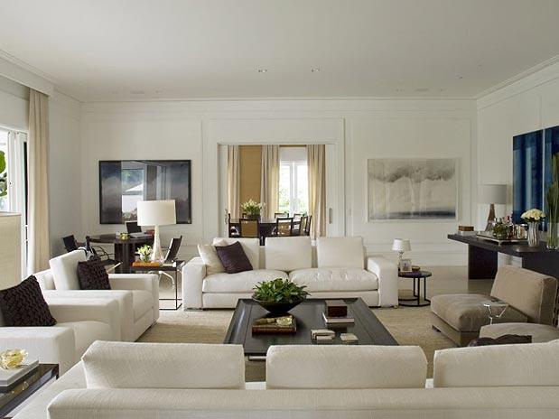 Grandes id ias para casa salas maravilhosas for Sala de estar grande com escada