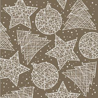 クリスマス飾りの線画 Christmas decorations line draft イラスト素材