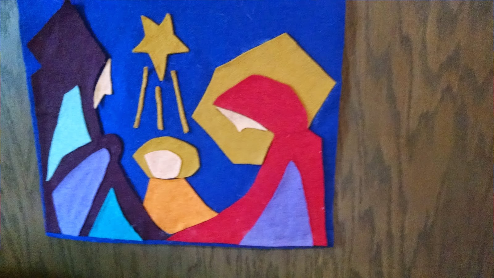 Manger Scene, Rendered many times in felt