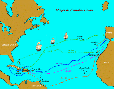 Estos fueron los viajes de Colón desde España a las nuevas tierras