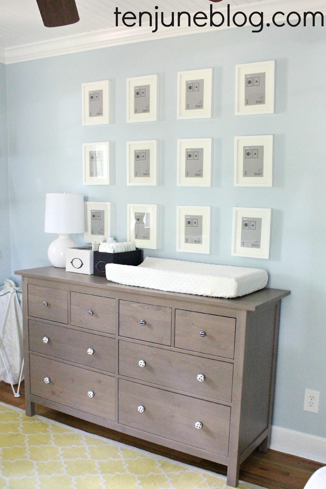 Nursery Update Ikea Dresser Turned Changing Table Station Land Of Nod Gumball Lamps