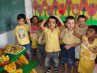 yellow day celebration in preschool kindergarten dav khera khurd yellow colour day celebration 143