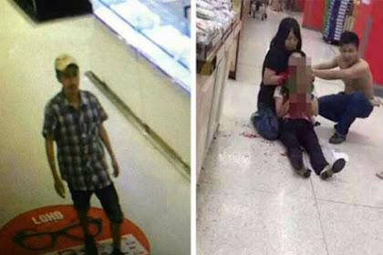 Ketahuan, Pencuri Gorok Pelayan Wanita di Supermarket